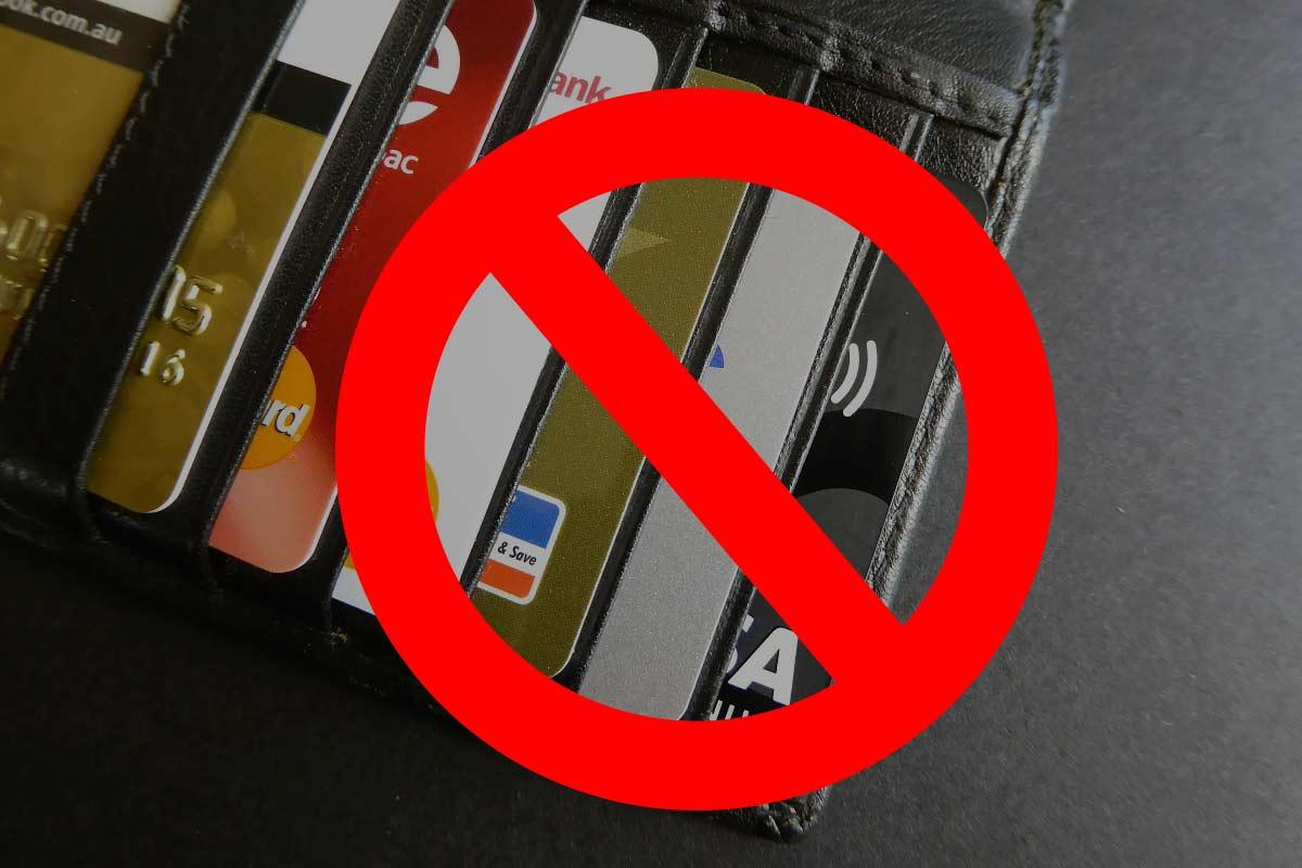 Кредитные карты запрещенные к оформлению