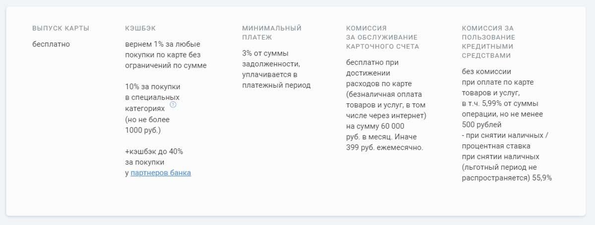 Кэшбэк кредитной карты УБРИР 240 дней